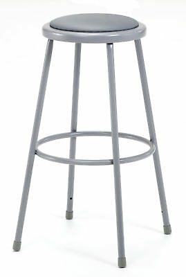 """National Public Seating Padded Stool with Footring 30"""""""