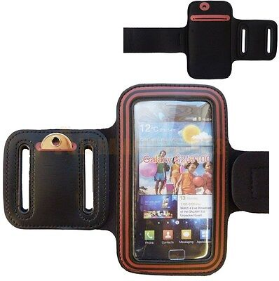 New Sports Gym Running Armband Case Cover Pouch For Samsung Galaxy S2 i9100 -Red