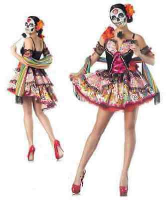 Party Kings Day Of The Dead Dia De Los Muertos Sexy Womens Halloween Costume