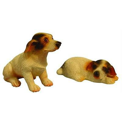 Miniature Pair of Jack Russells 12th Scale For Dolls Houses