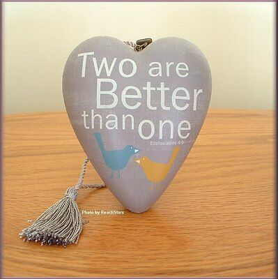 Two Are Better Than One Art Heart Sculpture Ornament Free U.s. Shipping