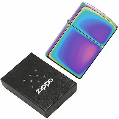 Genuine Zippo Spectrum Finish - Multicolor Windproof Lighter With Gift Box - 151