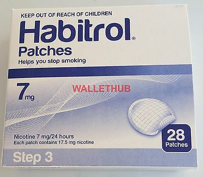 STEP 3 Habitrol Transdermal Nicotine Patches (7 mg, 1 box, 28 patches) NEW