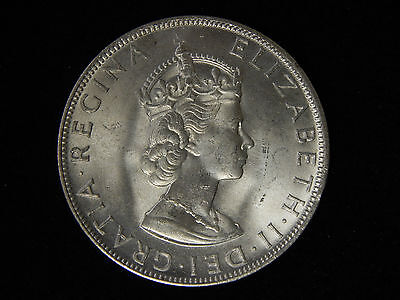 1964 Bermuda 1 Crown - Uncirculated - Silver