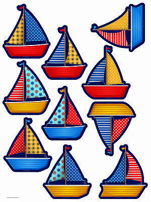"""Teacher Created Resources 6"""" SAILBOATS Bulletin Board Accents"""