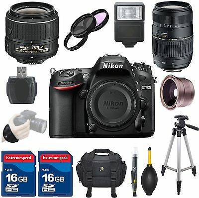 Nikon D7200 DSLR Camera Body + 18-55mm VR II Lens + Tamron 70-300mm Zoom Lens