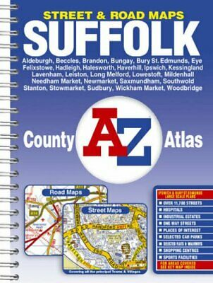 Suffolk County Atlas by Geographers A-Z Map Company Paperback Book The Cheap