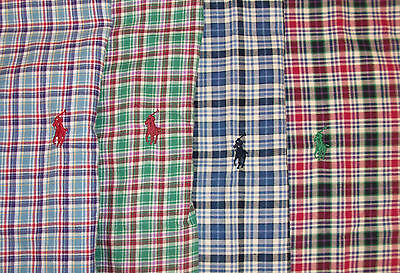 Polo Ralph Lauren Classic Fit Plaid Twill Shirt $89-95 W PONY Blue Red Green NWT