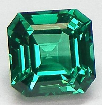 AAA Rated Nanocrystal Lab Created Emerald Asscher Cut Faceted Gemstone 5mm-20mm