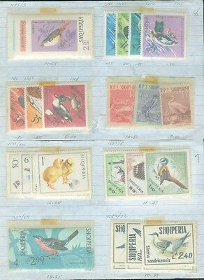 ALBANIA : Bird Topical. 13 Complete sets Mint & Used Just a few with tiny toning