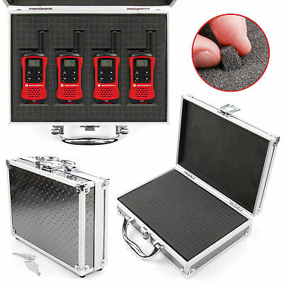Flight Case with DIY Foam for Motorola TLKR T40, T50, 80 2 Way Walkie Talkies