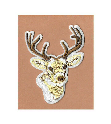 Deer - Wild Animal - Hunting  - Embroidered Iron On Applique Patch - B