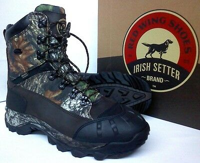 Red Wing Irish Setter Grizzly Tracker Hunting Boots 12 D - 1000g Insulated 2820