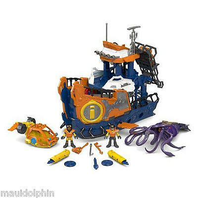 Fisher-Price Imaginext Deep Sea Mission Command Boat - Brand New!