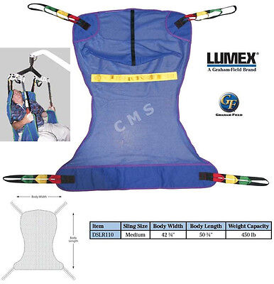 Graham Field LUMEX Mesh Full-Body Shower Sling Lift Medium DSLR110 E0621 FM110