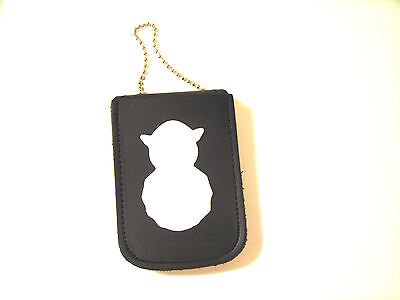 U.S. Air Force Badge ID Holder Recessed Cut Out Wear on Neck & Belt 4 Pockets