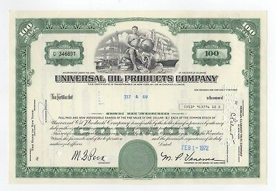 Universal Oil Prodducts Company Stock Certificate