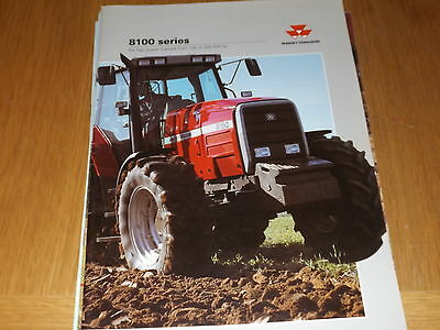 Massey Ferguson 8100  Tractor   Series    Specification  Brochure  Used