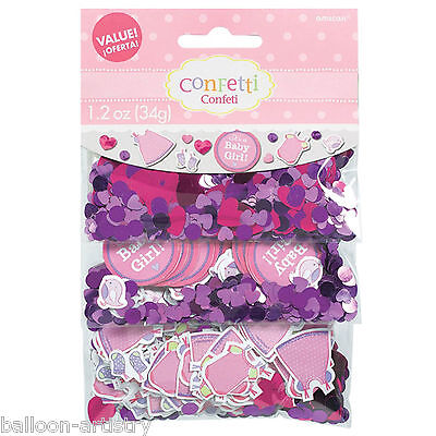 Pink Girl's New Baby Shower With Love Party Confetti Table Sprinkles Triple Pack