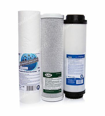 Set Of 1 Micron Filter•carbon Block•activated Carbon•reverse Osmosis•replacement
