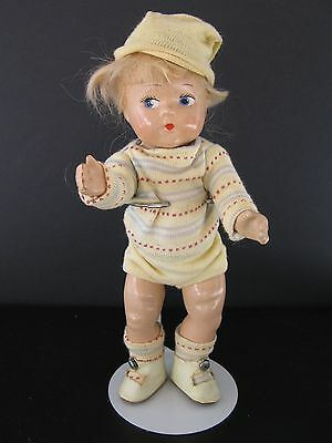 1940's Ginny Vogue Composition Brother Doll ~ Original Outfit With Button Shoes
