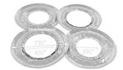 "7 1/2 "" Disposable Aluminum Foil Round Gas Burner Bibs #6000 by Durable"