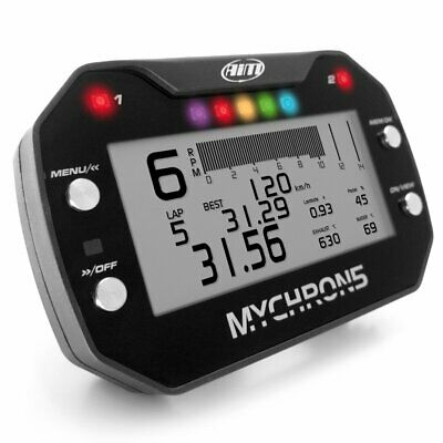 AIM Mychron 5 GPS Datalogger Unit, Air/PlugTemp Sensor & RPM Lead / Cadet 100cc