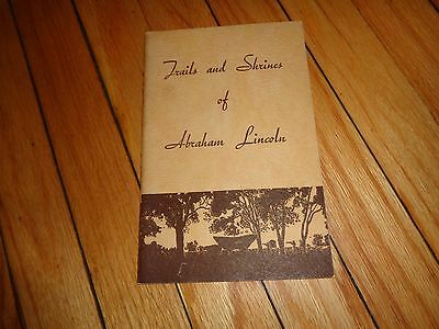 Trails and Shrines of Abrham Lincoln Book