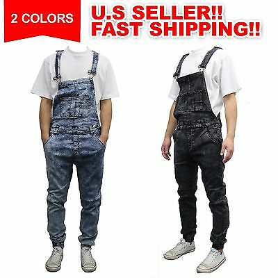 Men Jumpsuits Overalls Jeans Denims Pants Jogger style Ripped Suspender Trousers