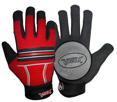 Longboard/Sliding/Free Ride Gloves with Quality Pucks Red Color