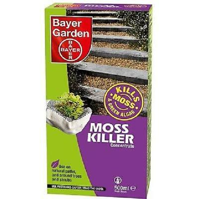 Bayer Moss Killer Concentrate Moss, Algae & Weed Killer 500ml Pack