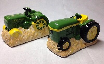 Vintage John Deere Tractor Salt And Pepper Shakers,