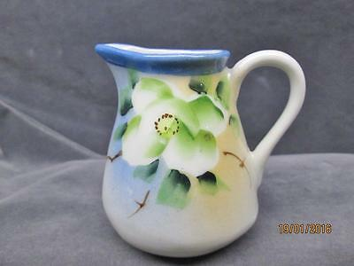 Vintage Hand Painted Porcelain Pitcher With Flowers Made In Japan