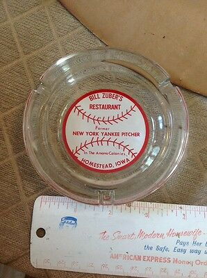 ashtray homestead iowa bill zubers yankee pitcher amana colonies ia glass