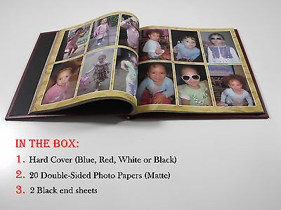 Photo Album cover with photo paper KIT, Photo Book DIY, Scrapbook Albums A4 size