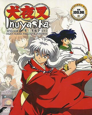 Anime DVD Inuyasha Vol 1-167 end Complete Animation ENGLISH DUBBED Box Set