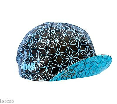"Cinelli ""Blue Ice"" Cotton Bike Cycling Cap Italian Made Retro Fixie Track"