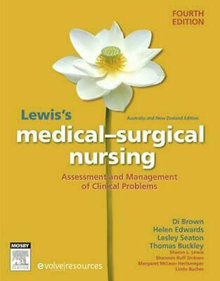 Lewis's Medical-Surgical Nursing ANZ 4th Edition by Diane Brown Hardcover Book