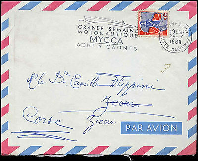 France 1960 Slogan Commercial Cover #C33004