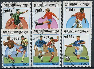 Cambodia 1997 SG#1613-8 World Cup Football Cto Used Set #D10389