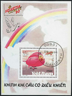 Vietnam 1990 SG#MS1437 Airships Cto Used M/S #D9823