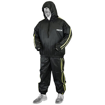 Sauna Sweat Track Suit Weight loss Slimming MRX Fitness Boxing Gym Heavy Duty BG