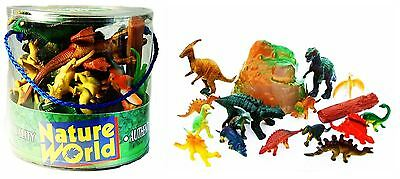 18pc Dinosaurs Set Jumbo Toy Kids Play Animal Action Figures T Rex Triceratops