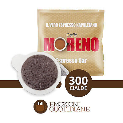 300 Cialde Caffè Moreno Espresso Bar in carta ESE 44mm