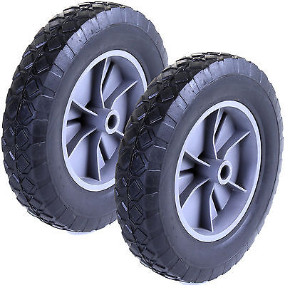 "2x 8"" Wheels Spare Replacement Sack Truck Trailer Go Kart Trolley Solid Tyre NEW"