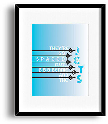 Song Lyric Music Artwork Print Decor Poster - Bennie and the Jets by Elton John