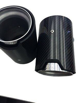 Genuine M Power Exhaust Tailpipe Muffler Tip CARBON 2Pcs BMW 2 3 4 Series 2012-