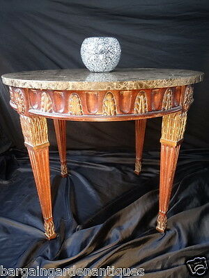 Antique French Empire Style Rococo Centre Carrara Marble Coffee Table