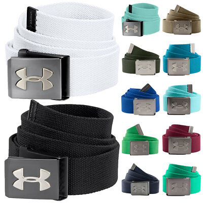 Under Armour 2017 Mens UA Webbing Canvas Golf Belt 'Bottle Opener Buckle'
