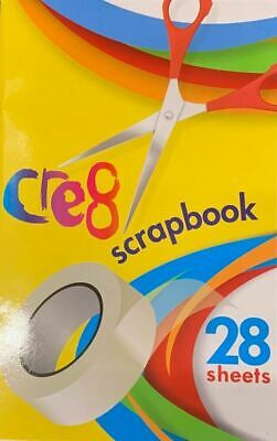 Scrap Book Colouring Pages School Clippings Sticking Album Kids Cutting Card